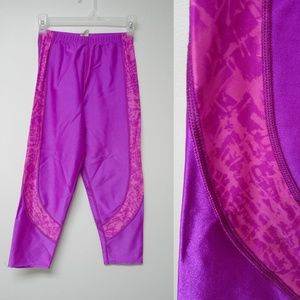 Pants - VTG 80s Hot pink purple spandex pants made in USA